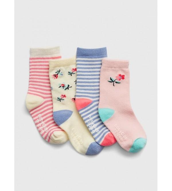 Kojinės mergaitei, 4 poros