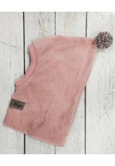 Rožinė kepurė mergaitei