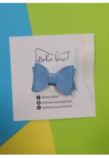 Boho Bow mėlynas segtukas mergaitei