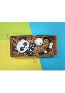 """Čiulptuko laikiklis su kramtuku """"Panda"""""""