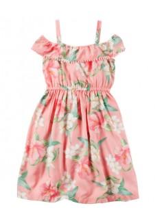Vasarinė gėlėta suknelė mergaitei
