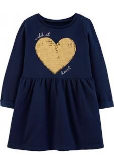 Carter's šilta suknelė su širdele
