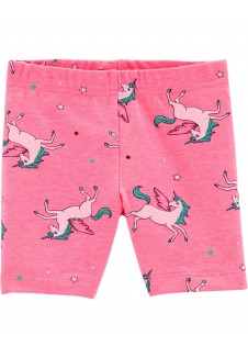 Rožiniai šortai mergaitei
