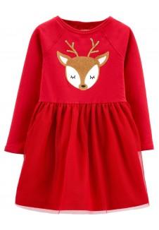 Carter's nuostabi raudona suknelė