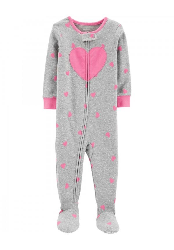 Vientisa pilka pižama mergaitei